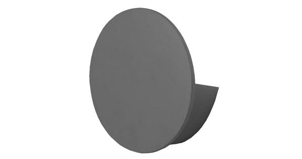 LED Φωτιστικό Τοίχου Απλίκα Αρχιτεκτονικού Φωτισμού Round Back Light Γκρι IP54 10 Watt CREE Θερμό Λευκό  93055