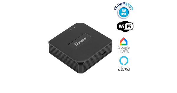 SONOFF RF Bridge 433 Remote Wifi Switch for Smart Home - Σύστημα Γέφυράς Τηλεχειρισμού Ηλεκτρικών Συσκευών WiFi RF Bridge 433 Μαύρο GloboStar 48479