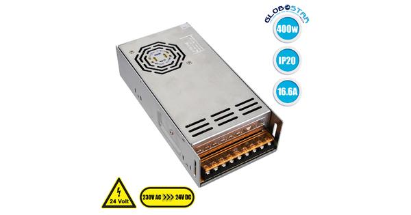 73046 Τροφοδοτικό LED 400W DC 24V 16.6A IP20 Μ20 x Π10 x Υ5cm