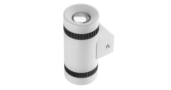 LED Φωτιστικό Τοίχου Αρχιτεκτονικού Φωτισμού Μονό Up Down Λευκό IP65 10 Watt CREE Θερμό Λευκό  93059