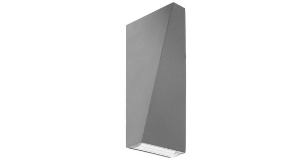 LED Φωτιστικό Τοίχου Αρχιτεκτονικού Φωτισμού Γκρι Up Down 10 Watt 20° & 100° Θερμό Λευκό IP65  96416