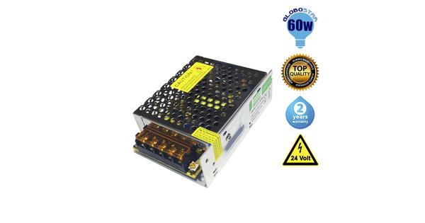 Τροφοδοτικό 60 Watt 24 Volt DC Ρυθμιζόμενο GloboStar 77463