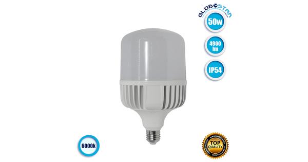 Λάμπα LED E27 High Bay 50W 230V 4900lm 260° Αδιάβροχη IP54 Ψυχρό Λευκό 6000k GloboStar 78006