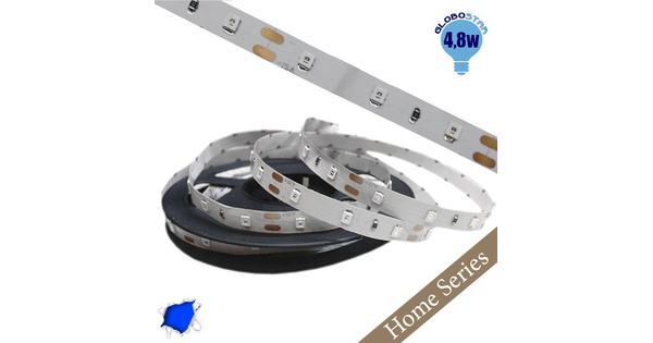 Ταινία LED Λευκή Home Series 5m 4.8W/m 12V 60LED/m 2835 SMD 200lm/m 120° IP20 Μπλε  33404