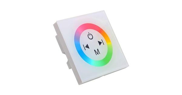 Touch Panel Τοίχου RGB Controller 12-24 Volt 144 Watt White Body  77419