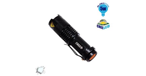 Φορητός Φακός CREE LED T6 3 Mode Zoom  06202