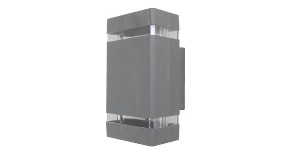 Φωτιστικό Τοίχου Quatro Ασημί Αλουμινίου IP65 Up / Down Gu10  90066