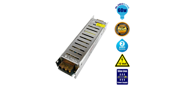 Τροφοδοτικό Slim Series  60 Watt 12 Volt DC  03001