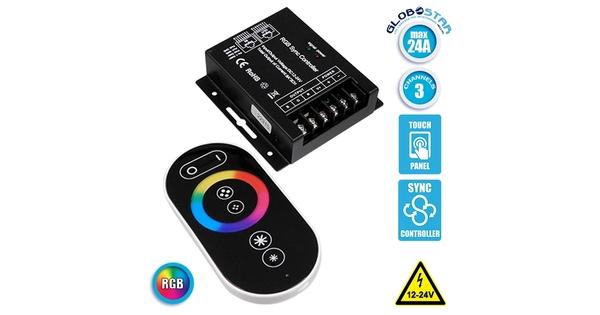 73410 Ασύρματος LED RGB Controller με Χειριστήριο Αφής 2.4G RF SYNC 12V (288w) - 24V (576w) DC