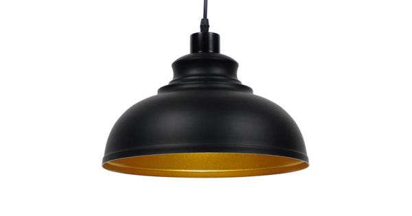 Μοντέρνο Κρεμαστό Φωτιστικό Οροφής Μονόφωτο Μαύρο Μεταλλικό Καμπάνα Φ35 GloboStar ANDY 01000