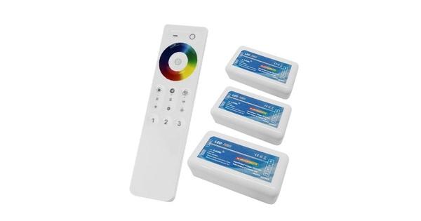 Σετ Ασύρματο RF 2.4G LED Controller Αφής RGB 12-24 Volt για Τρια Groups  04242
