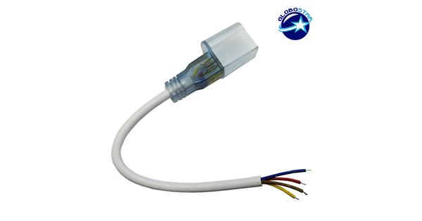 RGB Connector 230 Volt για NEON FLEX με 4 Καλώδια GloboStar 22616