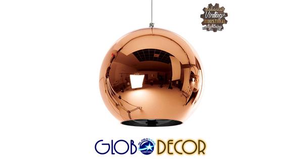 Μοντέρνο Κρεμαστό Φωτιστικό Οροφής Μονόφωτο Γυάλινο Χάλκινο Νίκελ Φ30  INFINITA 01310