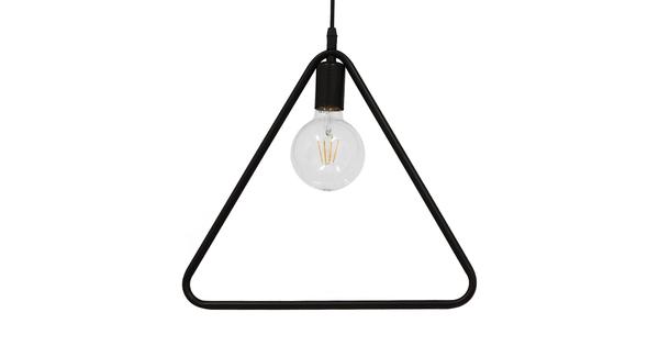 Μοντέρνο Κρεμαστό Φωτιστικό Οροφής Μονόφωτο Μαύρο Μεταλλικό  DELTA BLACK 01580