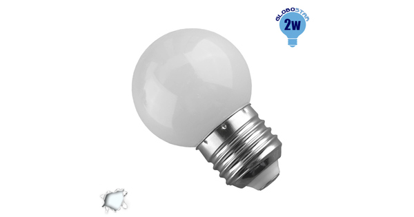 Mini Γλόμπος LED G45 2 Watt Ψυχρό Λευκό  64003