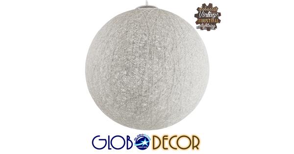 Vintage Κρεμαστό Φωτιστικό Οροφής Μονόφωτο Λευκό Ξύλινο Ψάθινο Rattan Φ60  KETTLE 01363