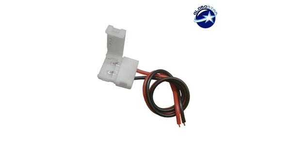 Μονός Connector 10mm 15cm Για Ταινία LED 7.2 & 14.4 Watt GloboStar 81550