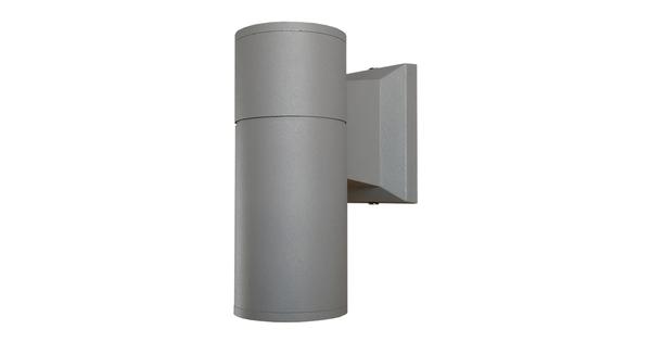 Φωτιστικό Τοίχου Wally Ασημί Αλουμινίου IP65 Down Gu10  90041