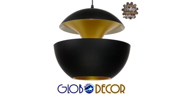 Μοντέρνο Κρεμαστό Φωτιστικό Οροφής Μονόφωτο Μαύρο Μεταλλικό Φ35  SEVILLE BLACK 01269