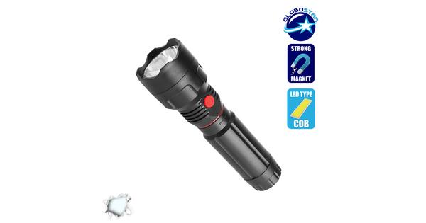Πτυσσόμενος Φακός COB LED Εμπρόσθιου και Πλαϊνού Φωτισμού  07013