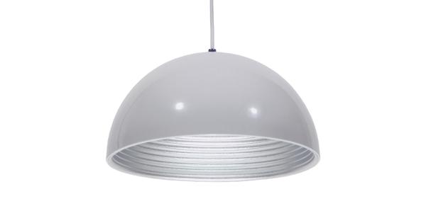 Μοντέρνο Κρεμαστό Φωτιστικό Οροφής Μονόφωτο Λευκό Μεταλλικό Καμπάνα Φ30  CHIME WHITE 01030