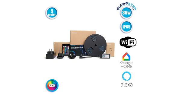 Sonoff Smart LED RGB SNF-L1-5M - Σετ Sonoff WiFi Ταινία LED Μαύρη με Ασύρματο Τηλεχειριστήριο 5m 36W 12V 150LED 5050 SMD 1750lm 120° Αδιάβροχη IP65 RGB  48472
