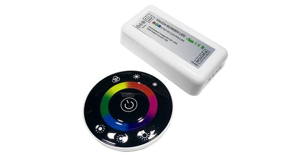 Controller RGB 2.4G Round 12-24 Volt DC Black Body  77445