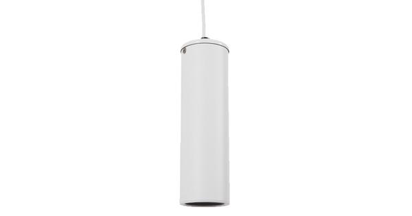 Μοντέρνο Κρεμαστό Φωτιστικό Οροφής Spot Gu10 Μονόφωτο Λευκό Μεταλλικό Φ6 GloboStar CANNON WHITE 01274