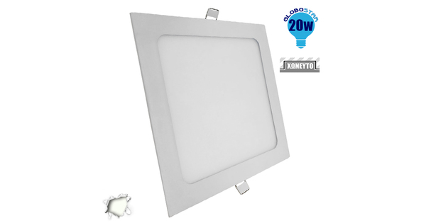 Πάνελ PL LED Οροφής Χωνευτό Τετράγωνο 20 Watt 230v Ημέρας  01885
