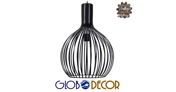 Μοντέρνο Κρεμαστό Φωτιστικό Οροφής Μονόφωτο Μαύρο Μεταλλικό Καμπάνα Φ38  GOBLET DARK 01266