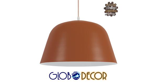 Μοντέρνο Κρεμαστό Φωτιστικό Οροφής Μονόφωτο Κόκκινο Κεραμιδί Μεταλλικό Καμπάνα Φ40  NORTHVALE 01283