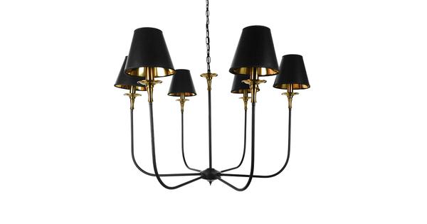 Vintage Industrial Κρεμαστό Φωτιστικό Οροφής Πολύφωτο Μαύρο Μεταλλικό Πολυέλαιος με Καπέλο Φ100  LIMI 01092
