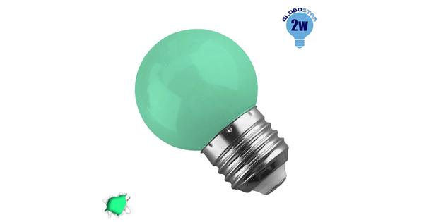 Mini Γλόμπος LED G45 2 Watt Πράσινο GloboStar 64005