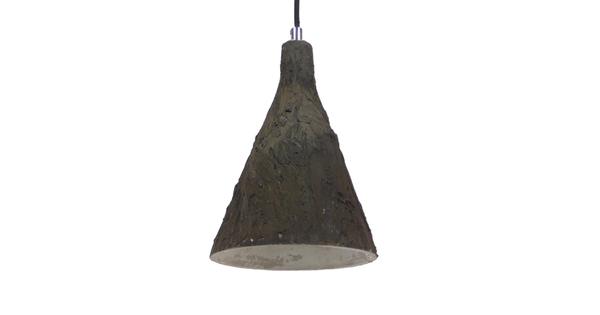 Μοντέρνο Κρεμαστό Φωτιστικό Οροφής Μονόφωτο Καφέ Τσιμέντο Φ18  VOLCANO 01080