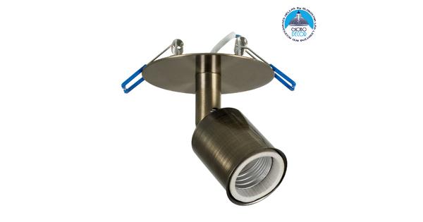 SARA 00853 Μοντέρνο Χωνευτό Φωτιστικό Οροφής / Τοίχου Μονόφωτο 1xE27 Μεταλλικό Μεταλλικό Μπρούτζινο Φ8 x Υ8.5cm