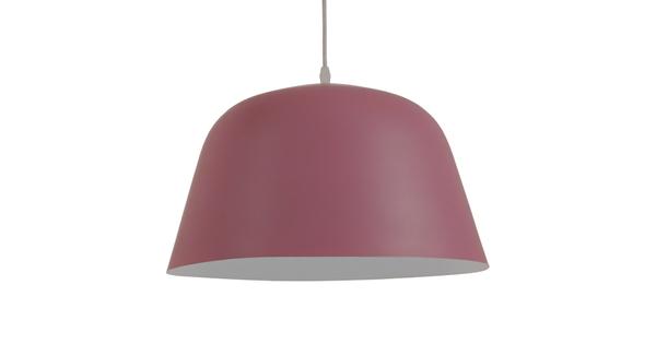 Μοντέρνο Κρεμαστό Φωτιστικό Οροφής Μονόφωτο Ροζ Μεταλλικό Καμπάνα Φ40 GloboStar SOUTHVALE 01284