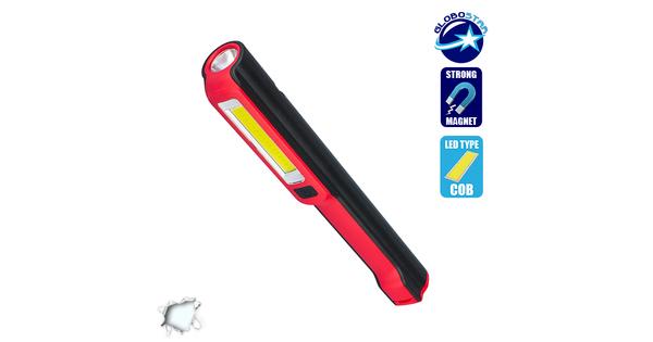 Φορητός Φακός PEN COB LED Κόκκινο Χρώμα  07007