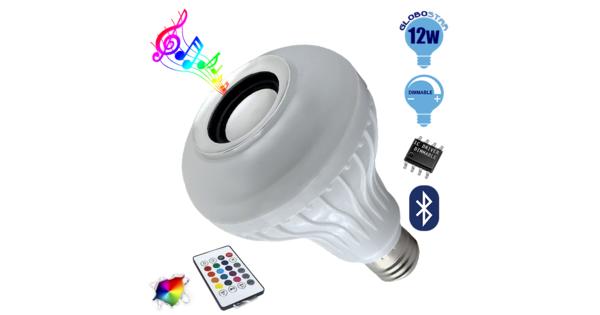 Λάμπα E27 PAR30 12 Watt Bluetooth με Ηχείο και Ασύρματο Χειριστήριο RGBW  06630
