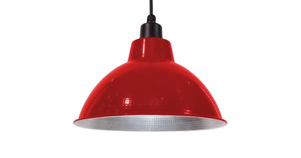 Vintage Industrial Κρεμαστό Φωτιστικό Οροφής Μονόφωτο Κόκκινο Μεταλλικό Καμπάνα Φ39 GloboStar LOUVE RED 01177