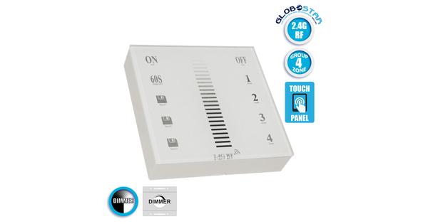 Ασύρματο LED Χειριστήριο Αφής και Τοίχου 2.4G RF Έως και 4 Διαφορετικά Groups DC  73319