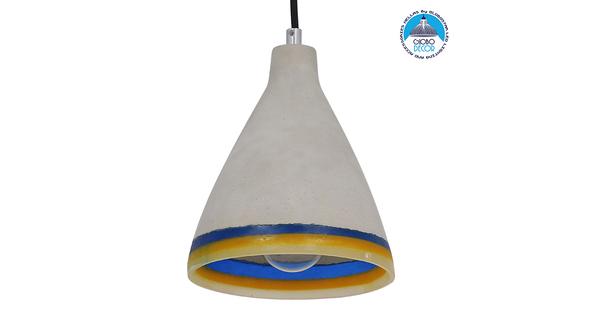 Μοντέρνο Industrial Κρεμαστό Φωτιστικό Οροφής Μονόφωτο Γκρι Καμπάνα Φ17  YVIE 01005