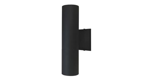 Φωτιστικό Τοίχου Wally Μαύρο Αλουμινίου IP65 Up / Down Gu10  90062