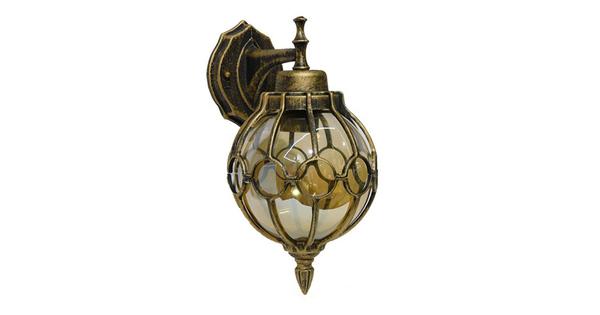 Vintage Φωτιστικό Τοίχου Απλίκα Μονόφωτο Μπρούτζινο Σκουριά Μεταλλικό Πλέγμα  BRIVELL 01227