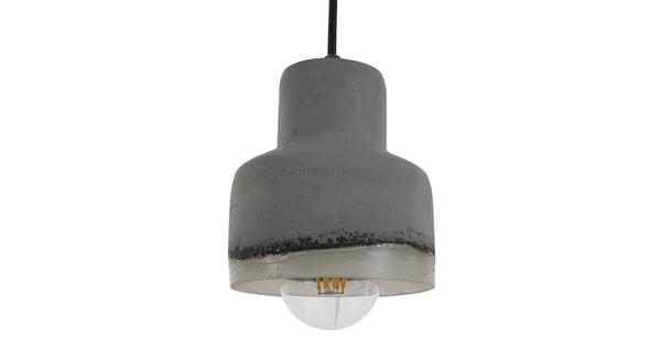 Μοντέρνο Industrial Κρεμαστό Φωτιστικό Οροφής Μονόφωτο Γκρι Καμπάνα Φ13 GloboStar EVIEL 01006