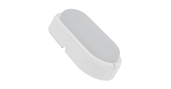 LED Πλαφονιέρα Οβάλ 10 Watt 850 Lumen Αδιάβροχη IP54 Θερμό Λευκό 3000k  05558