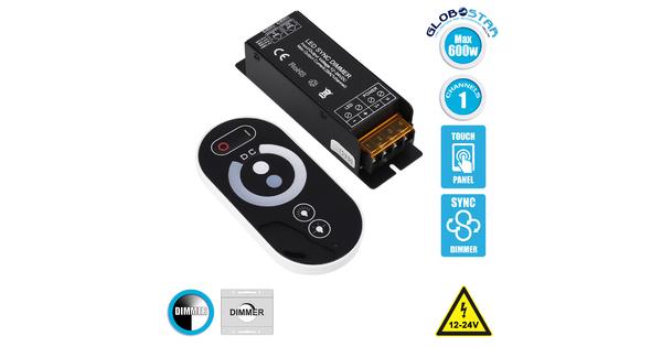 73431 Ασύρματο LED Dimmer Touch με Χειριστήριο RF 2.4Ghz SYNC DC 12-24V Max 600W