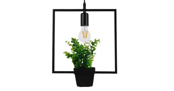 Μοντέρνο Κρεμαστό Φωτιστικό Οροφής Μονόφωτο Μαύρο Μεταλλικό Flowerpot Φ30  LAMIUM 01211