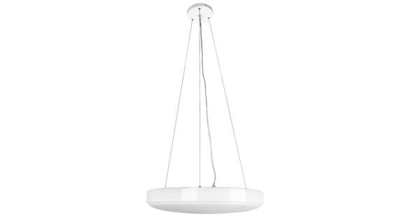 Μοντέρνο Κρεμαστό Φωτιστικό Οροφής Λευκό Πλαφονιέρα LED CCT 2700k έως 6000k 120W 230V 8000lm με Ασύρματο Χειριστήριο Φ45 Dimmable GloboStar 05601