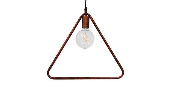 Μοντέρνο Κρεμαστό Φωτιστικό Οροφής Μονόφωτο Καφέ Σκουριά Μεταλλικό  DELTA IRON RUST 01581