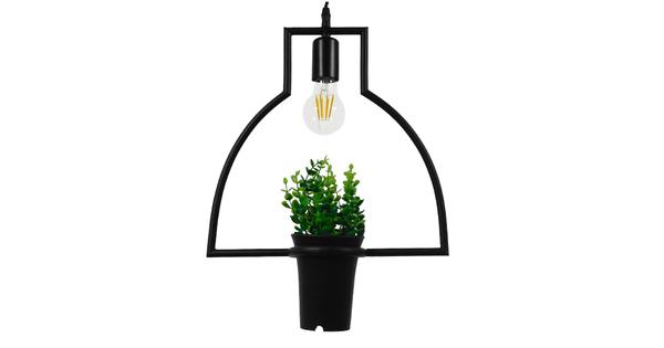 Μοντέρνο Κρεμαστό Φωτιστικό Οροφής Μονόφωτο Μαύρο Μεταλλικό Flowerpot Φ34  KERRIA 01209